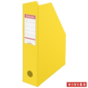 ESSELTE Iratpapucs, PVC/karton, 70 mm, összehajtható, ESSELTE, Vivida sárga