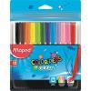 """MAPED Filctoll készlet, 2 mm, kimosható, MAPED """"Color\´Peps Ocean"""", 12 különböző szín"""