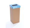 """ÖKUKA Szelektív hulladékgyűjtő, újrahasznosított, 60 l, RECOBIN """"Slim"""", kék szemetes"""