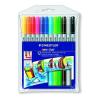 """STAEDTLER Filctoll készlet, 1-3 mm, kétvégű, kimosható, STAEDTLER """"Noris Club"""", 12 különböző szín"""