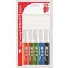 """ICO Flipchart marker készlet, 1-4 mm, vágott, ICO """"Artip 12"""", 6 különböző szín"""
