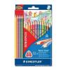 """STAEDTLER Színes ceruza készlet, háromszögletű, STAEDTLER """"Noris Club"""", 12+4 szín"""