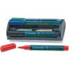 """SCHNEIDER Tábla- és flipchart marker készlet, 1-3 mm, szivaccsal, SCHNEIDER """"Maxx Eco"""", 4 különböző szín"""
