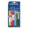 """STAEDTLER Színes ceruza készlet, háromszögletű, STAEDTLER """"Ergo Soft"""", 12 különböző szín"""