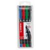 """STABILO Alkoholos marker készlet, 1 mm, STABILO """"OHPen M"""", 4 különböző szín"""