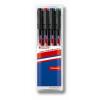 """EDDING Alkoholos marker készlet, OHP, 1 mm, EDDING """"142 M"""", 4 különböző szín"""