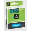 """DYMO Feliratozógép szalag, 19 mm x 7 m, DYMO """"D1"""", zöld-fekete"""