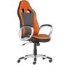 """. Főnöki szék, mesh és műbőr borítás, műanyag lábkereszt, """"OREGON"""", szürke-narancs forgószék"""