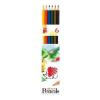 """ICO Színes ceruza készlet, hatszögletű, ICO """"Süni"""", 6 különböző szín"""