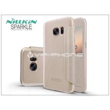 Nillkin Samsung G930F Galaxy S7 oldalra nyíló flipes tok - Nillkin Sparkle - golden tok és táska