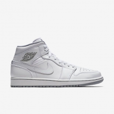 Nike Air Jordan 1 Mid White Wolf Grey