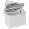Hűtőtáska vállpánttal, fehér (Hűtőtáska vállpánttal 6 x 0,5 literes doboznak, méret: 20,5 x 17 x 14,5)