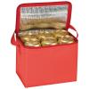 Hűtőtáska vállpánttal, piros (Hűtőtáska vállpánttal 6 x 0,5 literes doboznak, méret: 20,5 x 17 x 14,5)