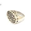 Áttört mutatós ezüst gyűrű