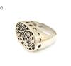 Áttört mutatós ezüst gyűrű gyűrű