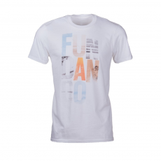 Fundango Basic T Logo 11 T-shirt,póló D (1TO10111_100-white)