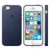 Apple iPhone 5/5S/SE gyári bőr hátlap tok, éjkék, MMHG2