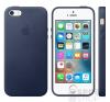 Apple iPhone 5/5S/SE gyári bőr hátlap tok, éjkék, MMHG2 tok és táska