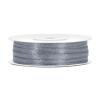 0,3 cm szatén szalag s.ezüst(50 m)-091