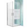 Roltechnik Tower Line TCO1 aszimmetrikus dupla nyílóajtó zuhanykabin 80x100, ezüst profillal transparent üveggel