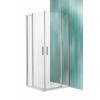 Roltechnik Tower Line TDO1 fix falas aszimmetrikus zuhanykabin, 2 nyílóajtóval 110x120, ezüst profillal