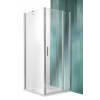 Roltechnik Tower Line TDO1 aszimmetrikus  zuhanykabin egy ajtóval és oldalfallal 100x90, ezüst profillal