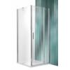 Roltechnik Tower Line TDO1 aszimmetrikus  zuhanykabin egy ajtóval és oldalfallal 120x70, ezüst profillal