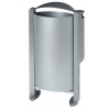 Rossignol Arkea trash can 60 liter made of steel with ashtray 3L with pedestal