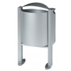 Rossignol Arkea trash can 40 liter made of steel with ashtray 3L with pedestal