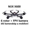 MJX X600 - 385 mm -es, 6 rotoros multicopter FPV kamerával!