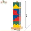 Woodyland Rúdra építhető színes fa torony