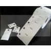 Kartoncímke PES 80×40mm /függesztő lyuk/ időjárásálló műanyag címke / nem öntapadós