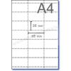 Polccímke ársínbe 65×38 mm 21 db címke / A4 ív