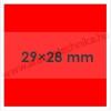 29×28mm FLUO piros árazócímke / 700db/tek