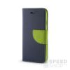 utángyártott Fancy flip tok, Huawei P8 Lite, kék/zöld