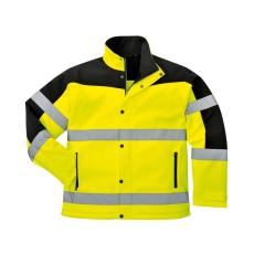 S429 - Kéttónusú Softshell kabát - sárga