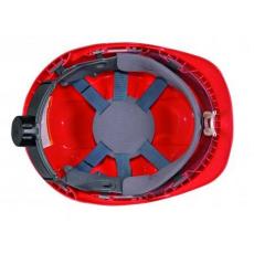 PW55 - Védősisak védőszemüveggel kombinált - piros