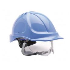 PW55 - Védősisak védőszemüveggel kombinált - royal kék