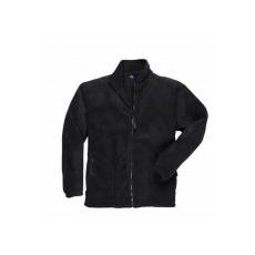 F400 - Argyll vastag polár pulóver - fekete