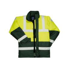 S466 - Kontraszt Traffic kabát - sárga / zöld