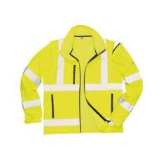 S428 - Jól láthatósági Softshell dzseki - sárga
