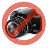 Kapcsoló nagy piros világító 250V Fekete
