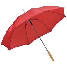 Automata ernyõ fa nyéllel, piros (Automata esernyõ, egyenes fa fogantyúval és fém csúccsal sokféle)