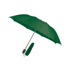 RAINBOW esernyõ, sötétzöld (RAINBOW kézi nyitású egyszeres teleszkópos összecsukható esernyõ, nylon)