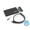 "SBOX 2,5"" Enclosure HDC-2562 SATA HDD to USB3.0 Black"