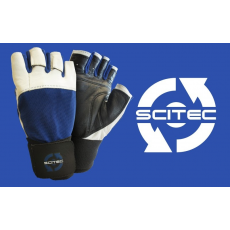 Scitec Nutrition Kesztyű Power Blue with wrist wrap férfi sötétkék M Scitec Nutrition