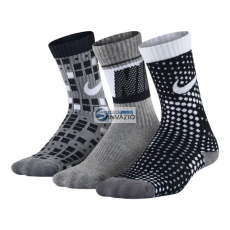 Nike zokni Nike Cotton Cushion Multi-Graphic Crew Sock 3pak Junior SX5097-904