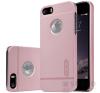 Nillkin Super Frosted hátlap tok Apple iPhone SE/5/5S, rozéarany + ajándék kijelzővédő fólia tok és táska
