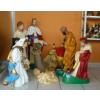 Betlehem-90cm/07 figurával/fekvő tevével