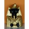Fáraó-35cm-mellszobor-Ehnaton ostorral-jogarral/fekete-arany